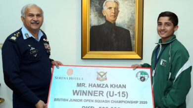 Photo of Air Chief Awards Cash Prize To Hamza