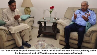 Photo of Air Chief Pays Tribute To Wing Commander Noman Akram (Shaheed)