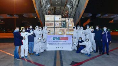 Photo of PAF Plane Carrying 14 Tons Of Medical Cargo Arrives