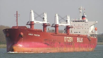 Photo of Mv Sibulk Tradition to berth at GPA on 15 May