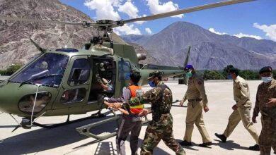 Photo of پاک فوج نے جوٹیال نالے میں آسمانی بجلی گرنے سے جاں بحق افراد کی میتیں گلگت منتقل کردیں