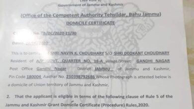 Photo of Pakistan Rejects Grant of Occupied Kashmir's Domicile To Indian Nationals