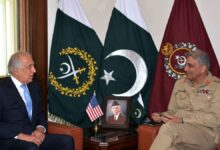 Photo of Khalilzad Thanks Pakistan For Efforts To Advance Afghan Peace Process: Statement