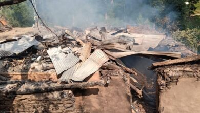 Photo of Several Houses, Mosque Destroyed In Indian Shelling On Leepa Sector
