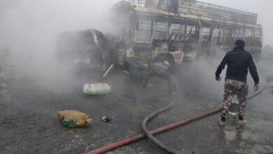 Photo of نارنگ منڈی کے قریب مسافر وین اور بس میں تصادم، 13افراد جاں بحق